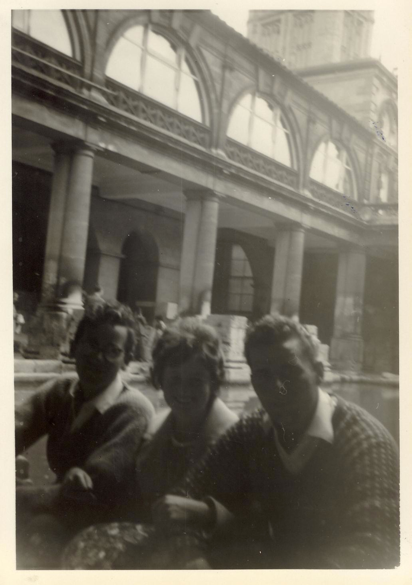1963 07 Ian, Janet & Eddie, Bath July 1963