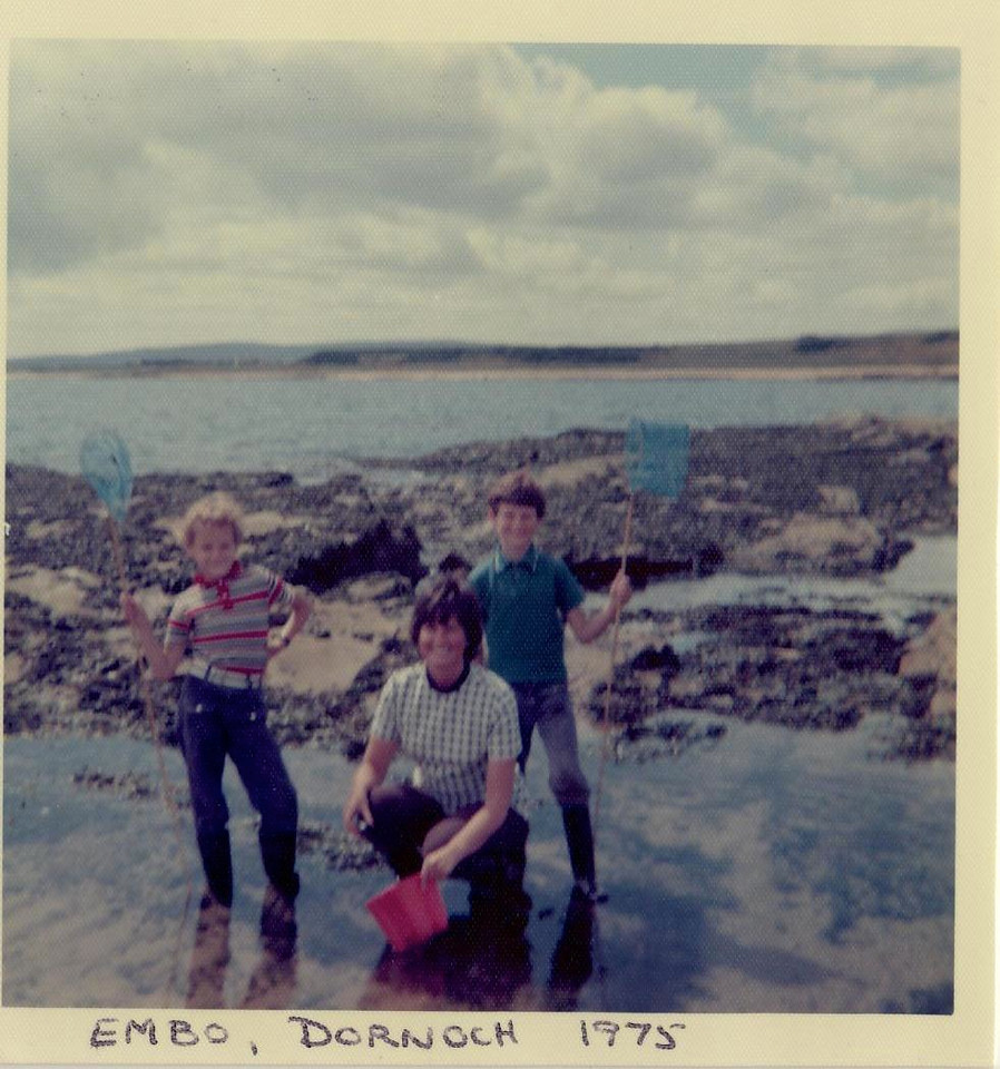 1975 07 Kenny Janet Brian Embo Dornoch, July 1975