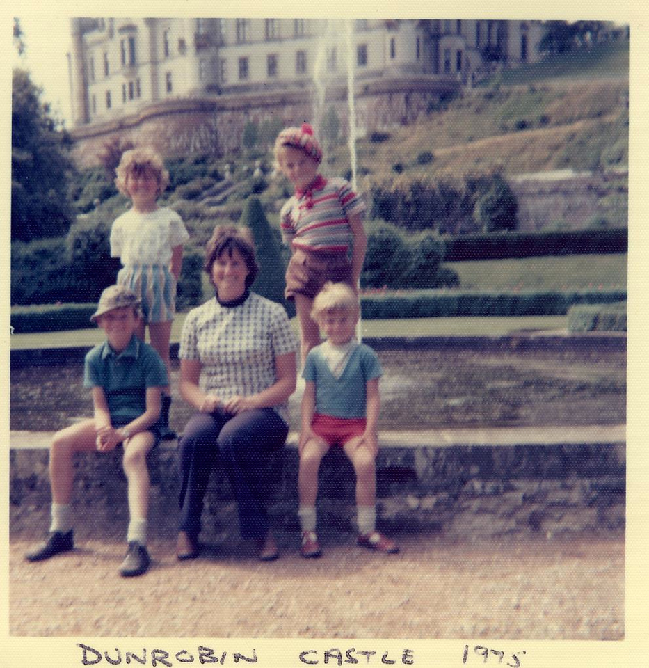 1975 07 Brian Ann Janet Kenny Alan Dunrobin Castle, July 1975