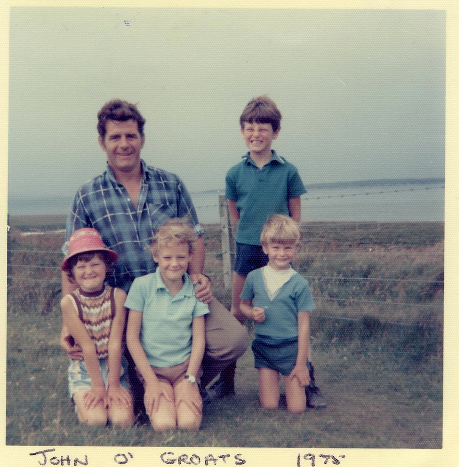 1975 07 Ann Eddie Kenny Brian Alan John o' Groats, July 1975