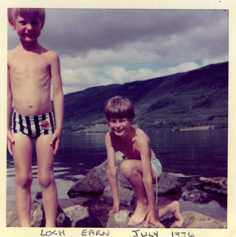 1976 07 Alan Brian Loch Earn, July 1976