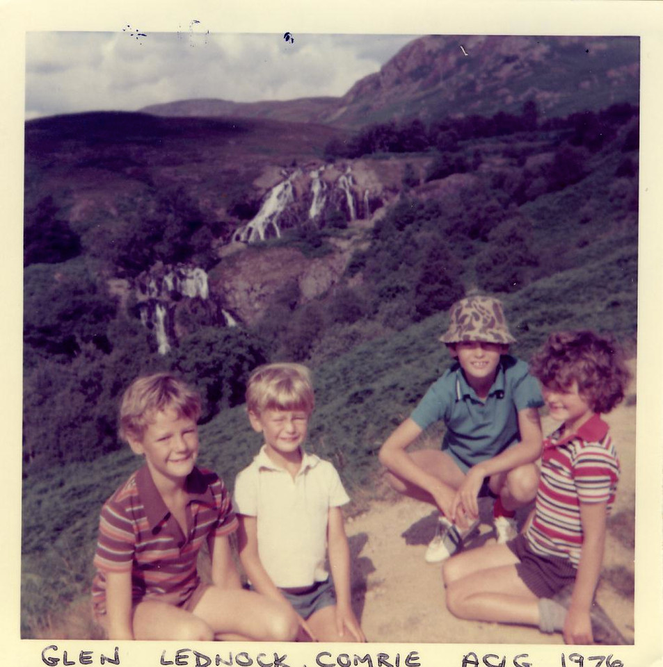 1976 08 Kenny Alan Brian Ann Lednock Dam, August 1976