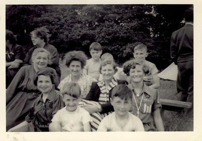 1957 Janet Williamson (L Middle) Guide Camp, 1957