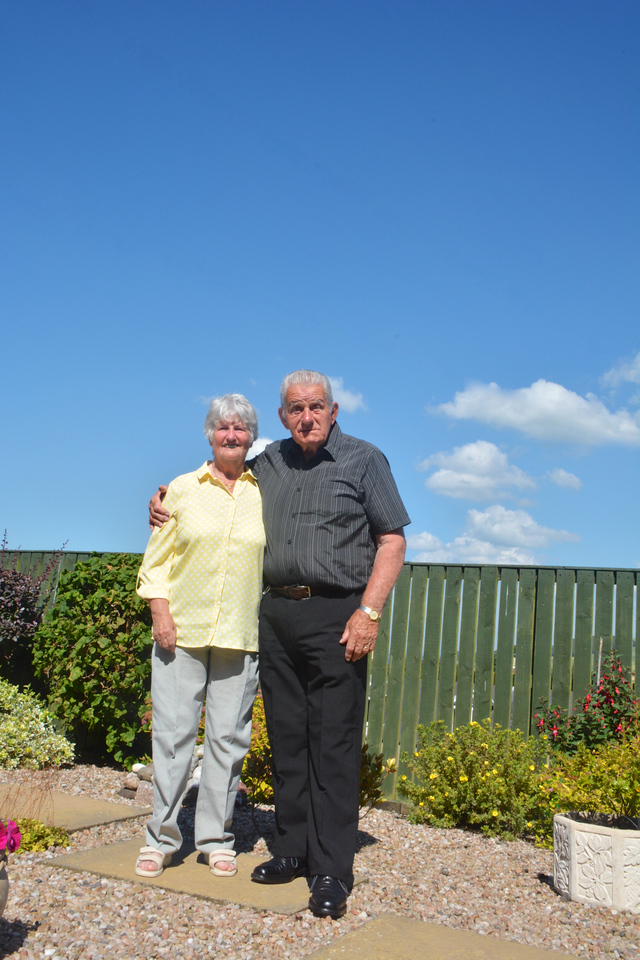 SJanet Eddie cotland Granny Grandad Golden Wedding July 2014