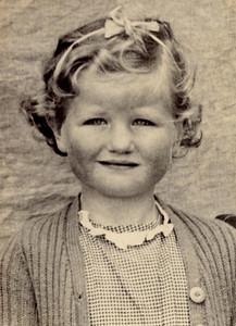 1948 Janet Williamson 5 yrs  old, 1948