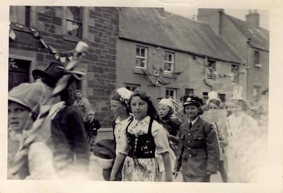 1953 06 Janet Williamson Coronation Parade Newburgh, June 1953