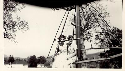 1956 06 Muriel & Janet, June 1956