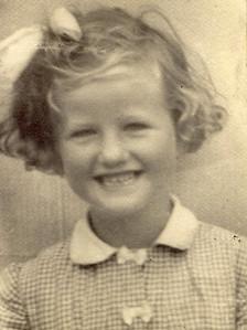 1949 Janet Williamson 6 yrs  old, 1949